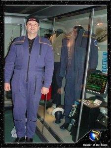 Donald in Enterprise Captain uniform