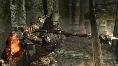 Skyrim Orc in Melee Combat