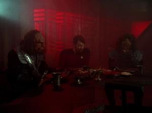 Riker tries Klingon cuisine