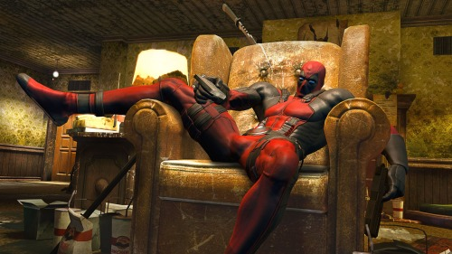 Deadpool Sittin' Pretty