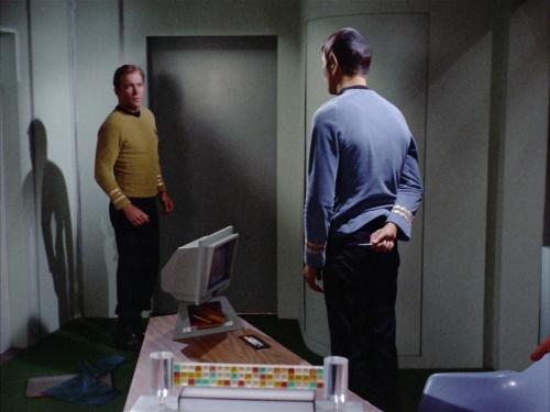 Kirk confronts Spock