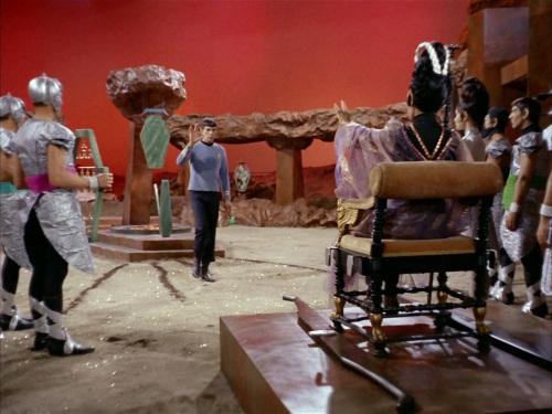 Spock greets T'Pau