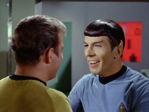 Image result for spock finding out kirk is still alive