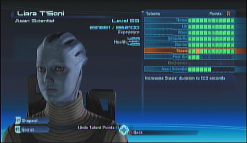 Liara Squad Screen
