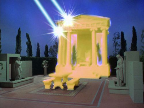 The temple is destroyed